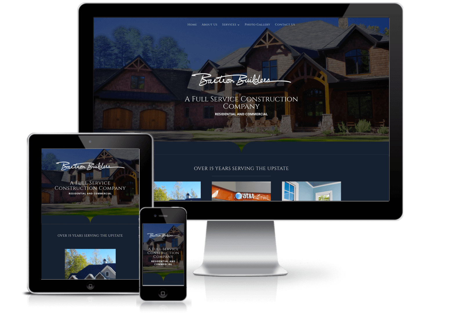 bartron builders custom website design