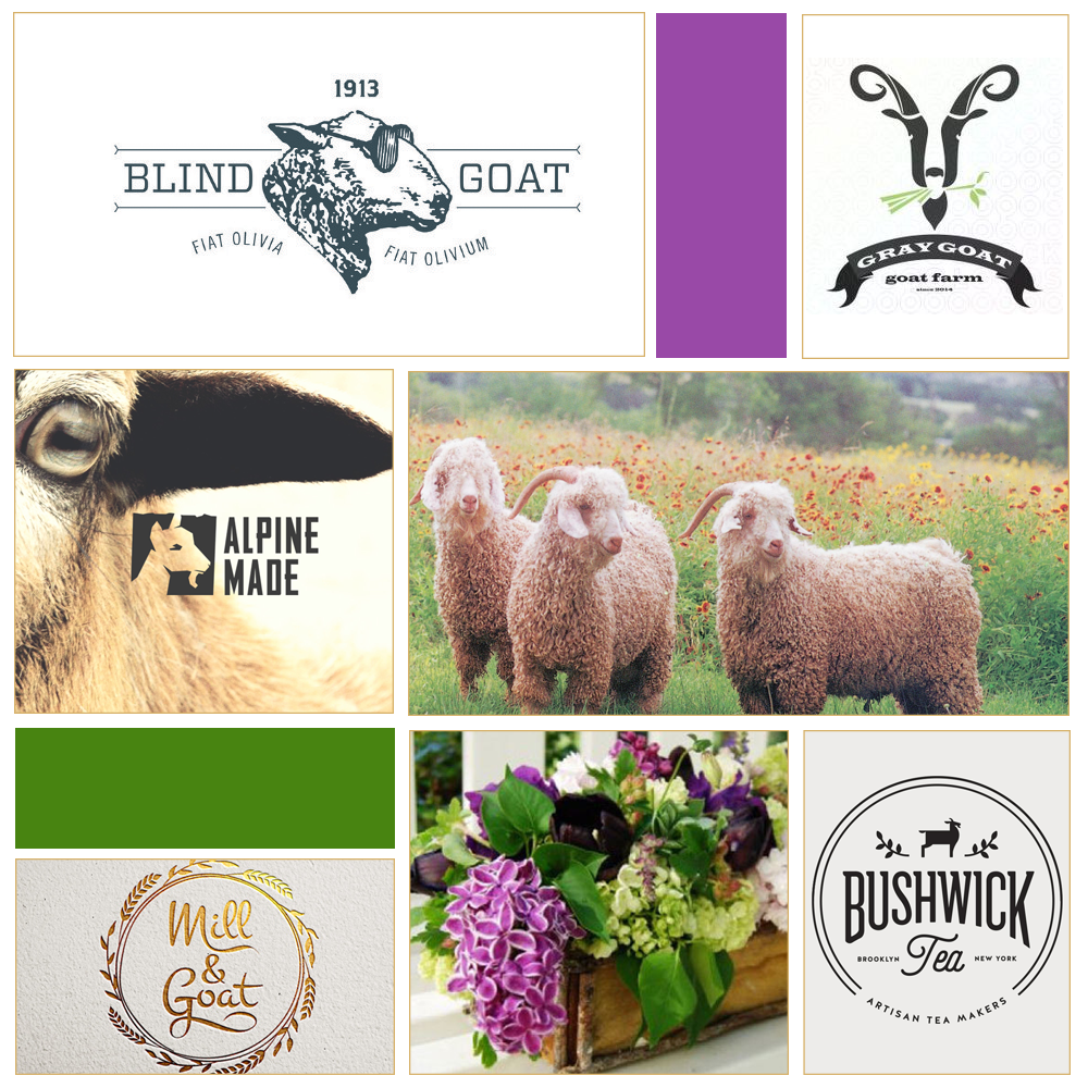 green goat mood board