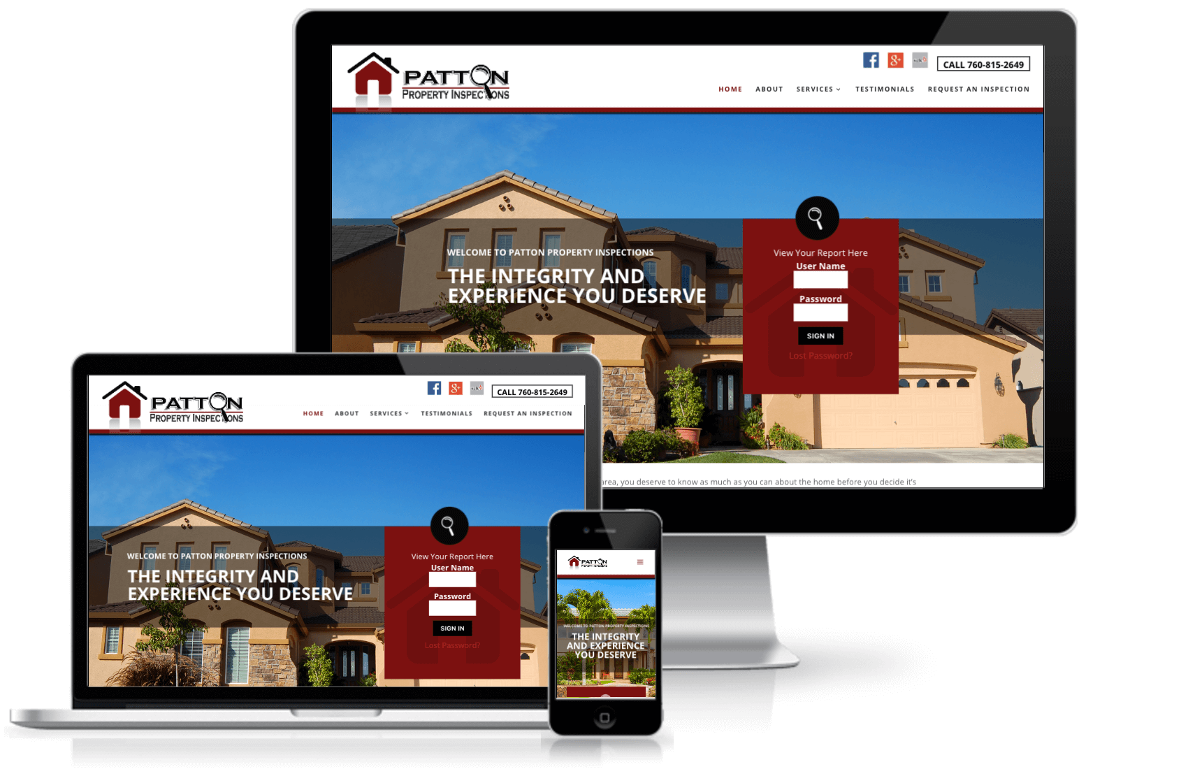 patton property inspection website