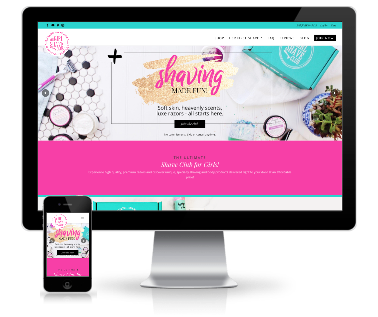 all girl shave club responsive