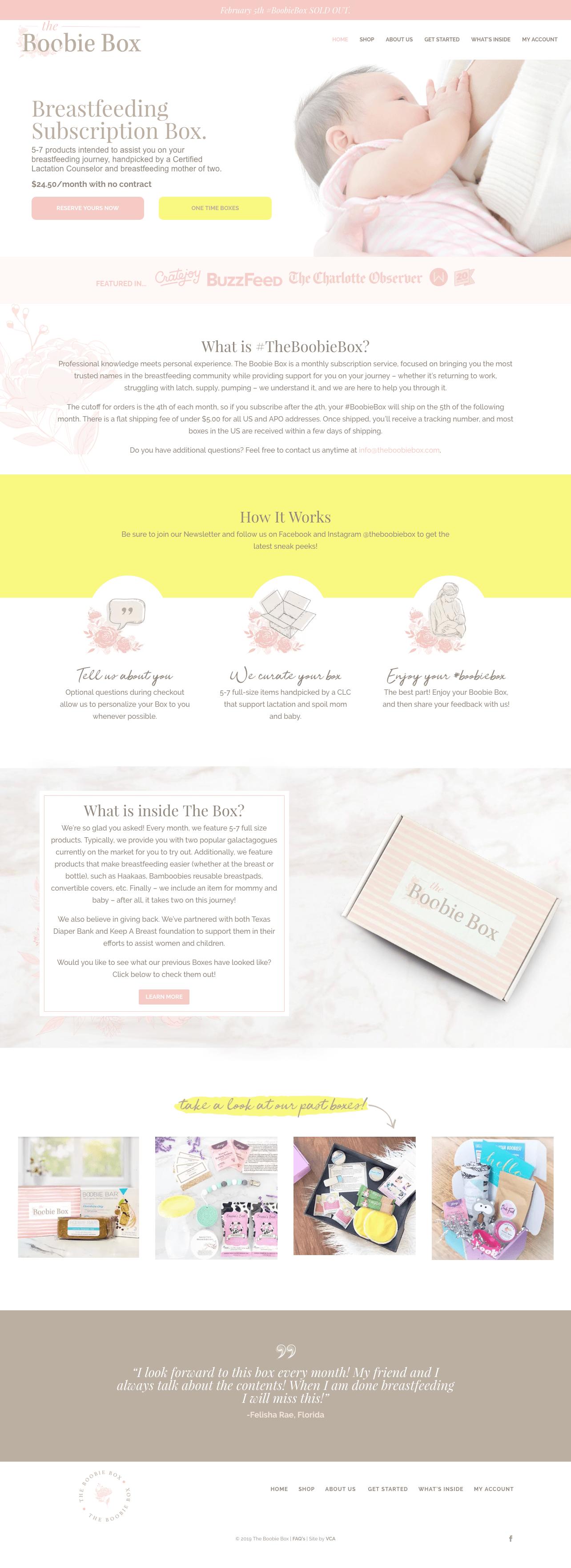 breastfeeding subscription box website