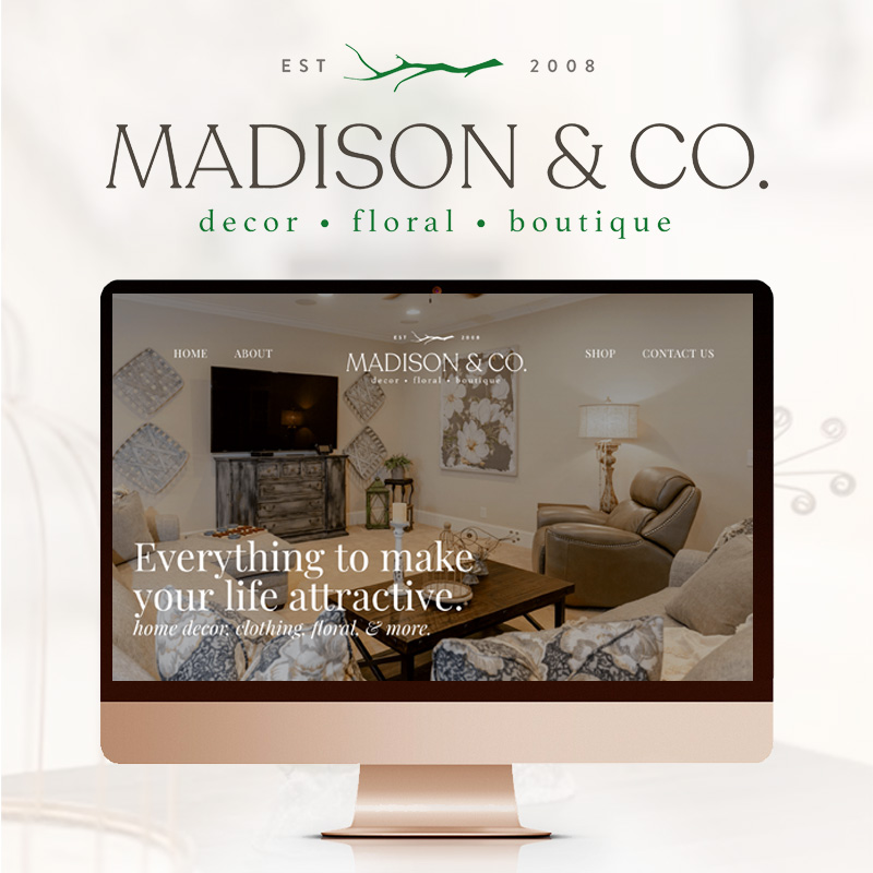 madison and co website design