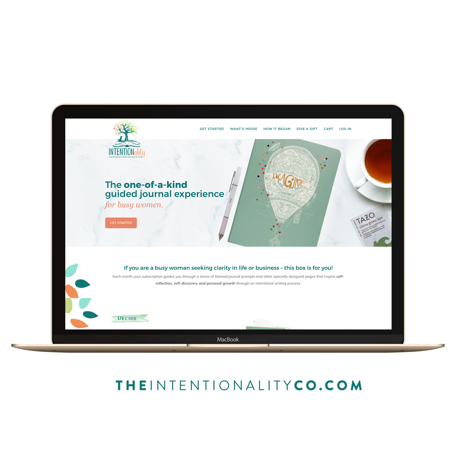 intentionality Box Subscription Box Website Design