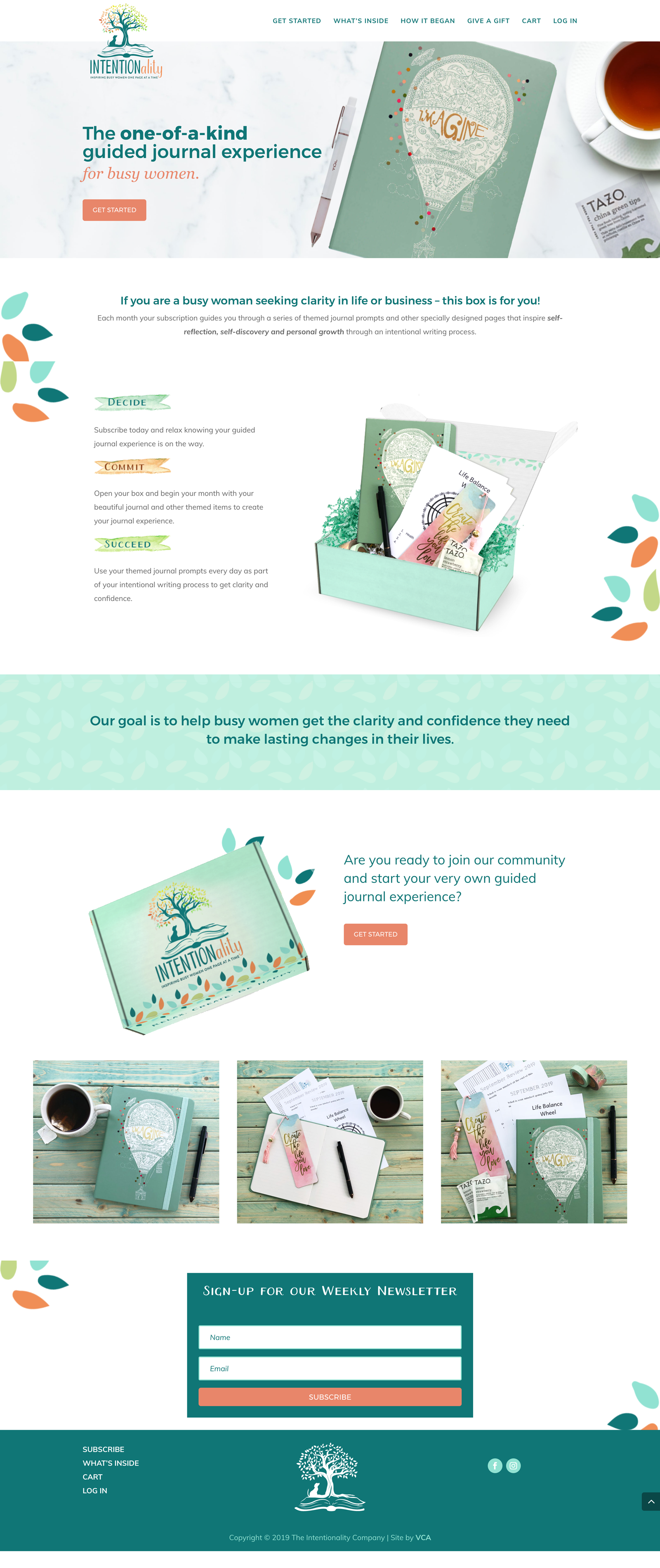 intentionality subscription box website