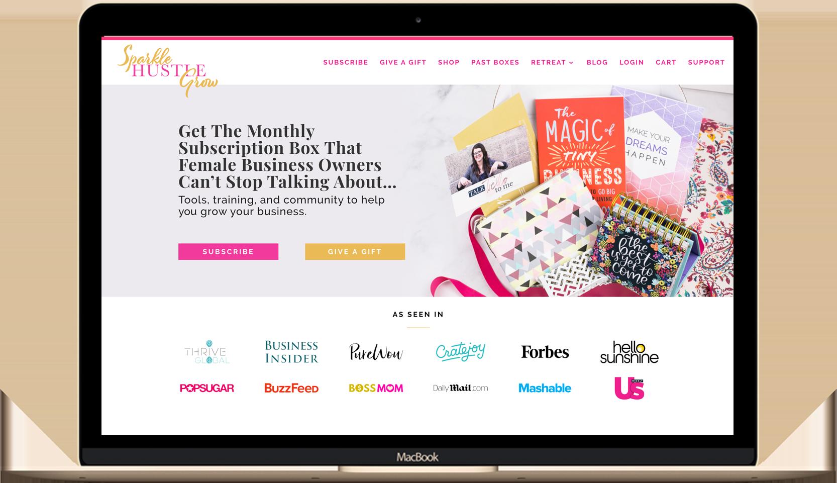 sparkle hustle grow website