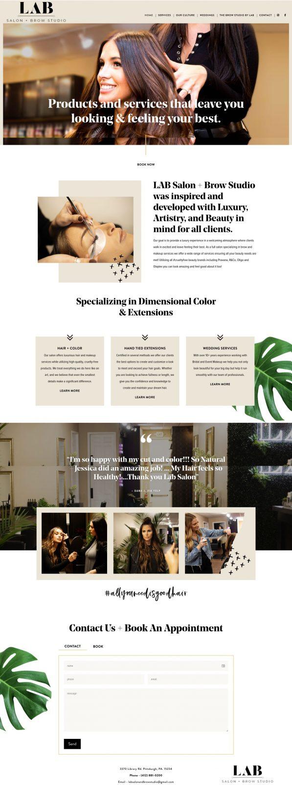 Lab-Salon-Website-Design