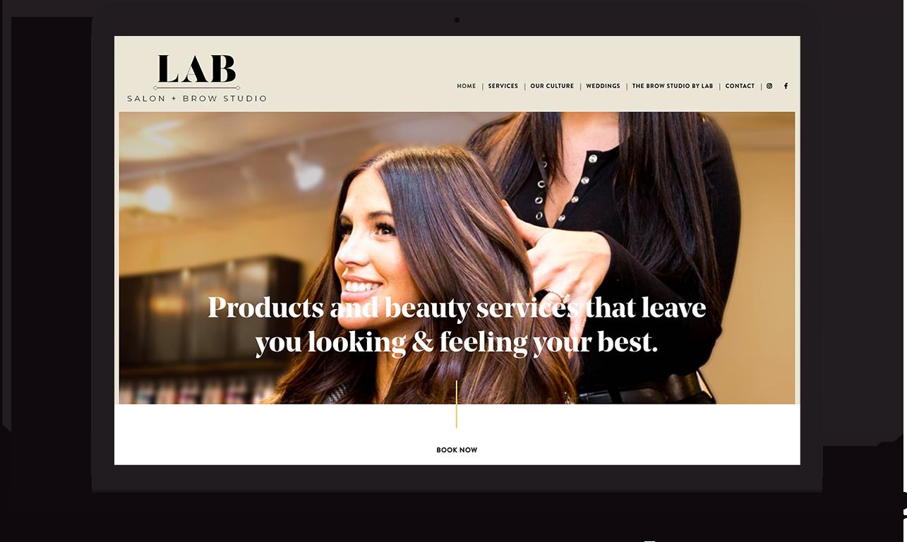 lab salon website design