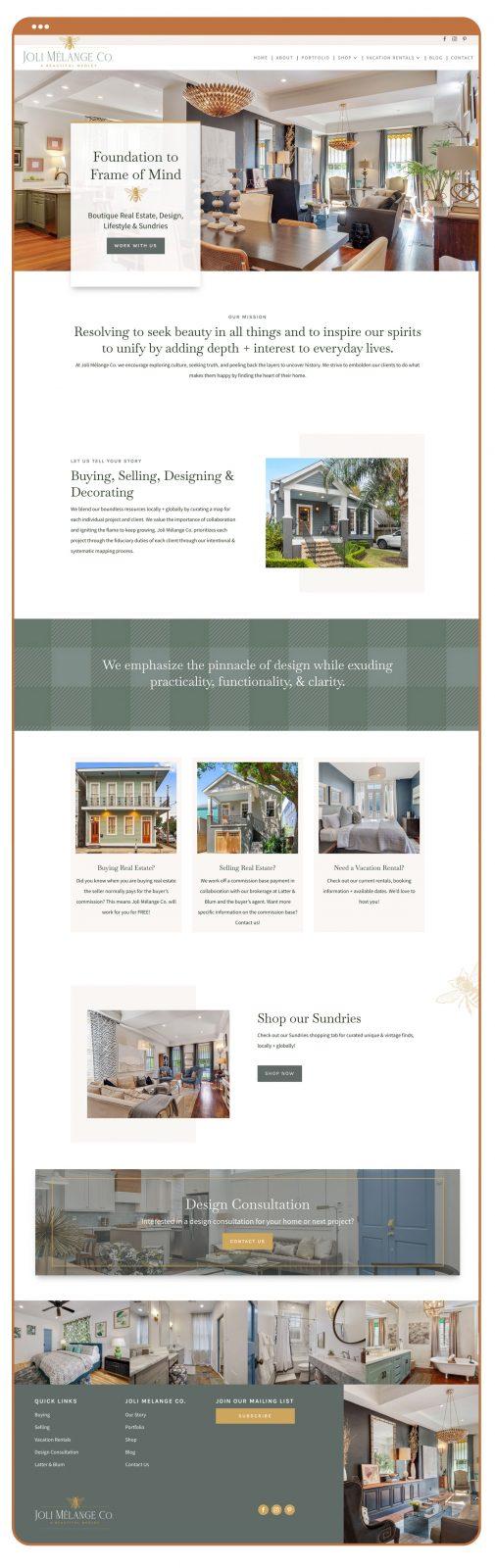 Joli Mélange Co. Website Design